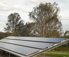 Sanyo solar panels installed